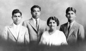 Madan, Brij, Kala, and Ram Bagai in 1933. (Courtesy of Rani Bagai)