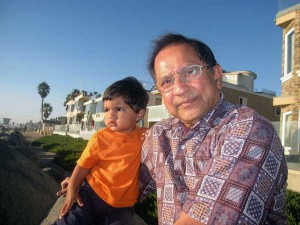 Mahesh Shah with his grandson, Naveen