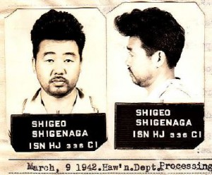 Shigeo Shigenaga's photograph during detention (courtesy National Archives and Records Administration)